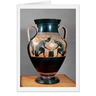 Black-figure amphora depicting Ajax and Achilles, Card