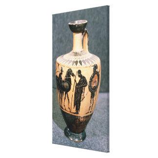 Black-figure Attic vase 5th century BC Canvas Print