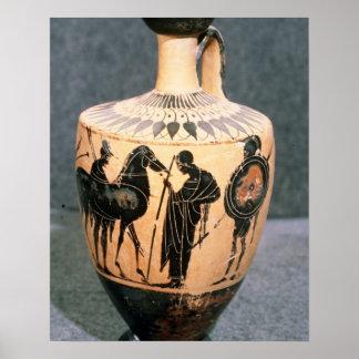 Black-figure Attic vase 5th century BC Posters