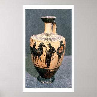 Black-figure Attic vase 5th century BC Print