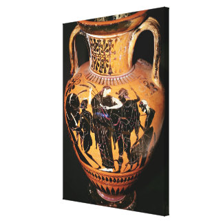 Black-figure attic vase canvas print