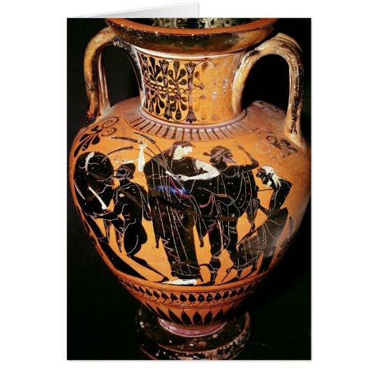 Black-figure attic vase card