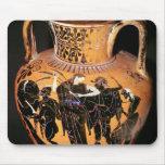 Black-figure attic vase mouse pad