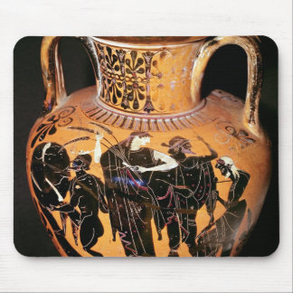 Black-figure attic vase mouse pad