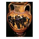 Black-figure attic vase postcard