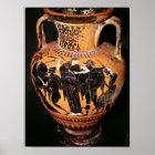 Black-figure attic vase poster