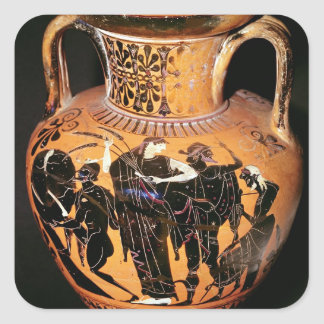 Black-figure attic vase square sticker