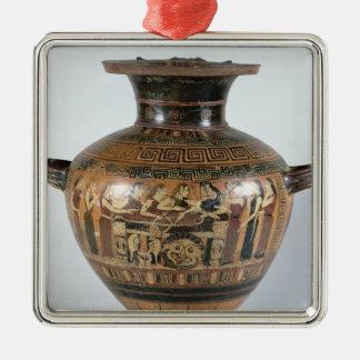 Black-figure hydria metal ornament
