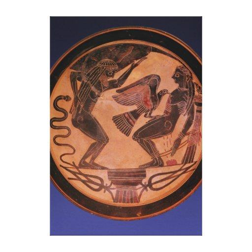 Black figure kylix gallery wrap canvas