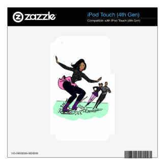 black figure skater decal for iPod touch 4G