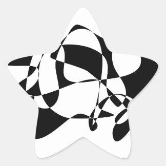 Black Figure Star Sticker