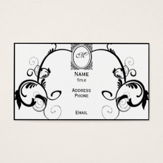 Black Filigree Business Card