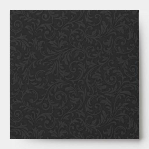 Black Filigree Envelope-Square