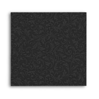 Black Filigree Envelope-Square Envelope