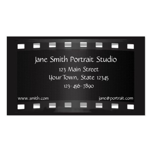 Black Film Strip Business Card