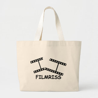 black Filmriss icon Large Tote Bag