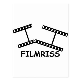black Filmriss icon Postcard