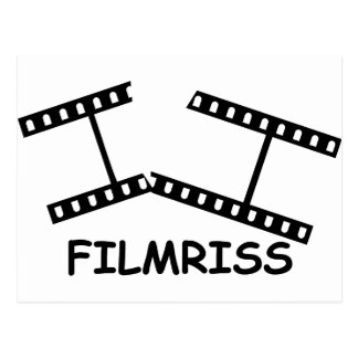 black Filmriss icon Postcard