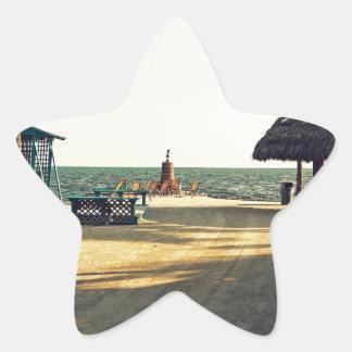 Black Fin Resort Star Sticker