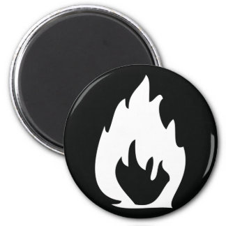 black fire icon magnet