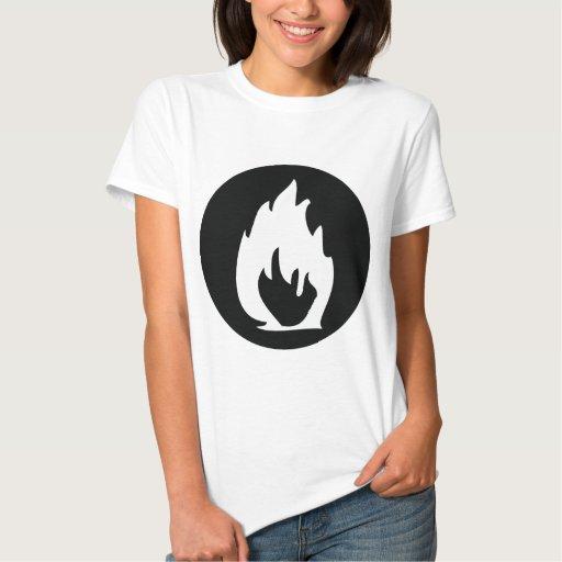 black fire icon T-Shirt