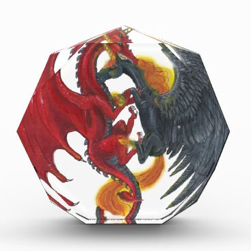 Halloween Themed Black Fire Unicorn and Red Dragon Award