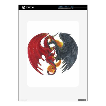 Halloween Themed Black Fire Unicorn and Red Dragon Skins For The iPad
