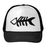 black fish fishbones trucker hat