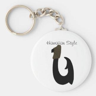 Black Fish Hook, Hawaiian Style key chain