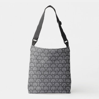 Black Fish Scale Tote Bag
