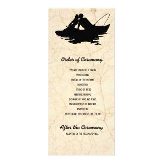 Black Fishing Lovers Wedding Program Rack Card Template