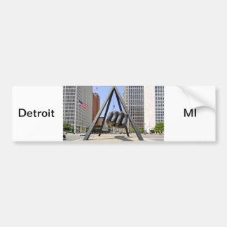 Black Fist Detroit Bumper Sticker