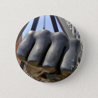 Black Fist Detroit Button