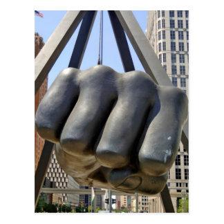 Black Fist Detroit Postcard