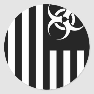 Black Flag Biological Outbreak - Classic Round Sticker