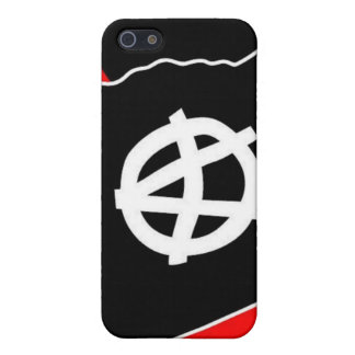 black flag on red and black i phone case iPhone 5 cover