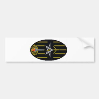 Black flame - Black Fleming Bumper Sticker