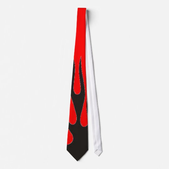 Black Flame (Red) Neck Tie