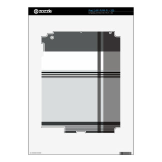 Black Flannel Pattern Decal For iPad 2