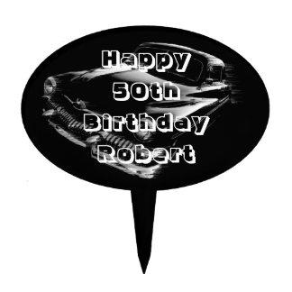 Black Flash Car Birthday Cake Topper
