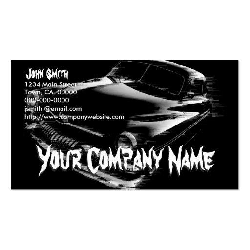 Black Flash Car Business Cards