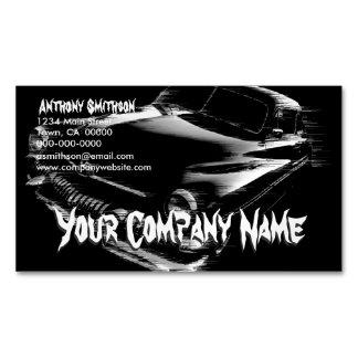 Black Flash Car Magnetic Business Card