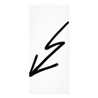 black flash customized rack card