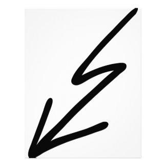 black flash letterhead
