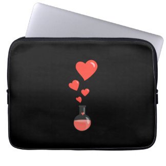 Black Flask Of Hearts Geek Valentine's Day 15in Computer Sleeve