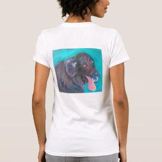 Black Flat Coated Retriever Dog Art T-Shirts