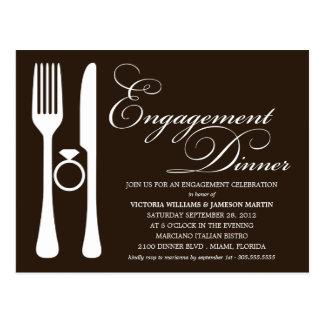 BLACK FLATWARE | ENGAGEMENT DINNER POSTCARD