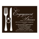 BLACK FLATWARE | ENGAGEMENT DINNER POSTCARDS