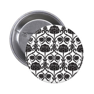 Black Fleur-de-Lis 2 Inch Round Button