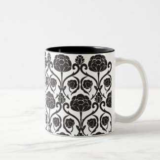 Black Fleur-de-Lis Coffee Mugs